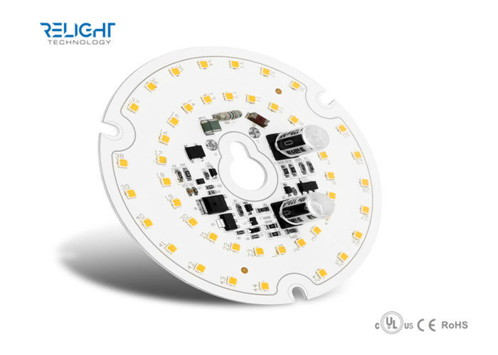 Aluminum 16W D100mm Round LED AC Module for Downlight / Panel Lights 1760Lm, 110Lm/W تامین کننده